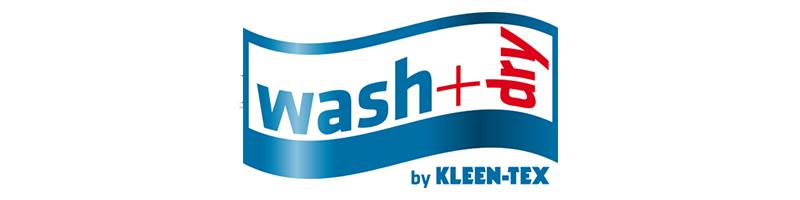 La collection de tapis colorés Wash+Dry est fabriquée en Autriche et Pologne. Grâce à leur composition (fibres de nylon (polyamide) haute torsion 6.6, les tapis passent du lave-linge (60°C) au sèche-linge. Ils possèdent la certification écologique OEKO-TEX standard 100.
